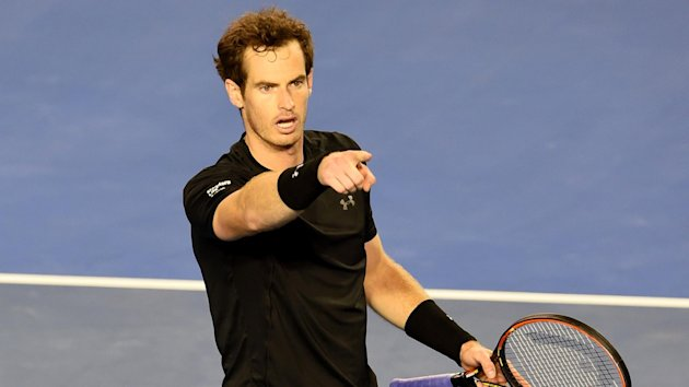 Andy Murray celebrates his semi-final win