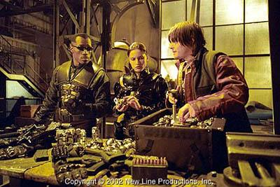 Wesley Snipes as Blade, Leonor Varela as Nyssa and Norman Reedus as Scud in New Line's Blade II