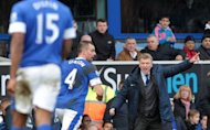 Everton manager David Moyes shouts instructions to his players during a Premier League match against Manchester City at Goodison Park, on March 16, 2013. All eyes will be on Old Trafford and Goodison Park on Sunday as Alex Ferguson and Moyes say their emotional farewells at the end of one of the most dramatic weeks in the history of the Premier League