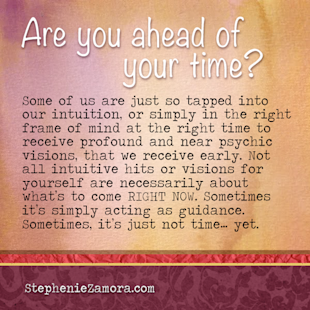 Are you ahead of your time?