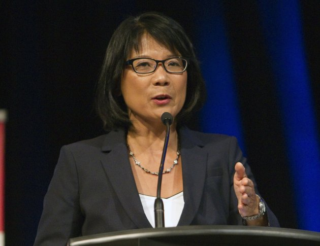 Toronto mayoral candidate Olivia Chow at Tuesday night's debate in Scarborough.