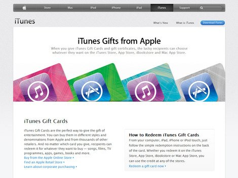 iTunes e-vouchers can be used on many different types of content.