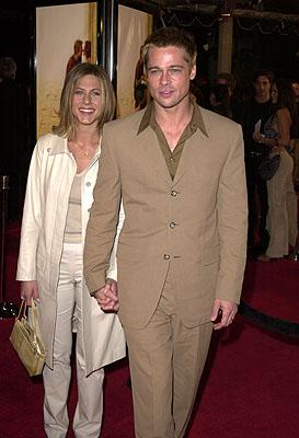 Premiere: Jennifer Aniston and Brad Pitt at the Mann National Theater premiere of Dreamworks' The Mexican - 2/23/2001