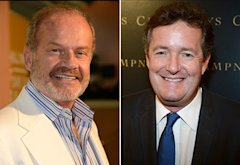 Kelsey Grammer, Piers Morgan | Photo Credits: Kevork Djansezian/Getty Images;  Frazer Harrison/Getty Images