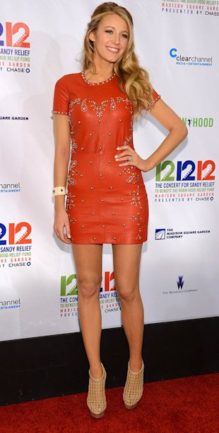 Blake Lively in Isabel Marant at Hurricane Sandy relief concert