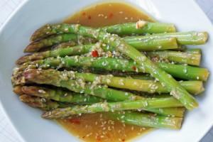 Marinated Asparagus WIth Sesame Ginger Vinaigrette