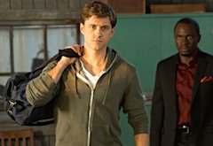 Aaron Tveit, Gbenga Akinnagbe | Photo Credits: Bob Mahoney/USA Network