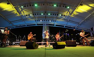 In their heyday, My Writes played several times at the Esplanade Outdoor Theatre. (Photo courtesy of My Writes)