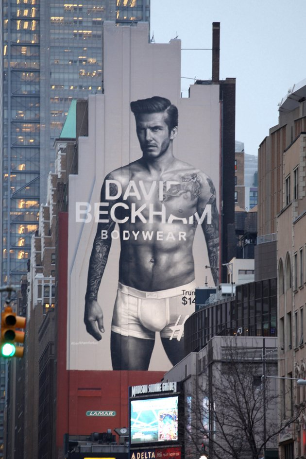 David Beckham in his underwear