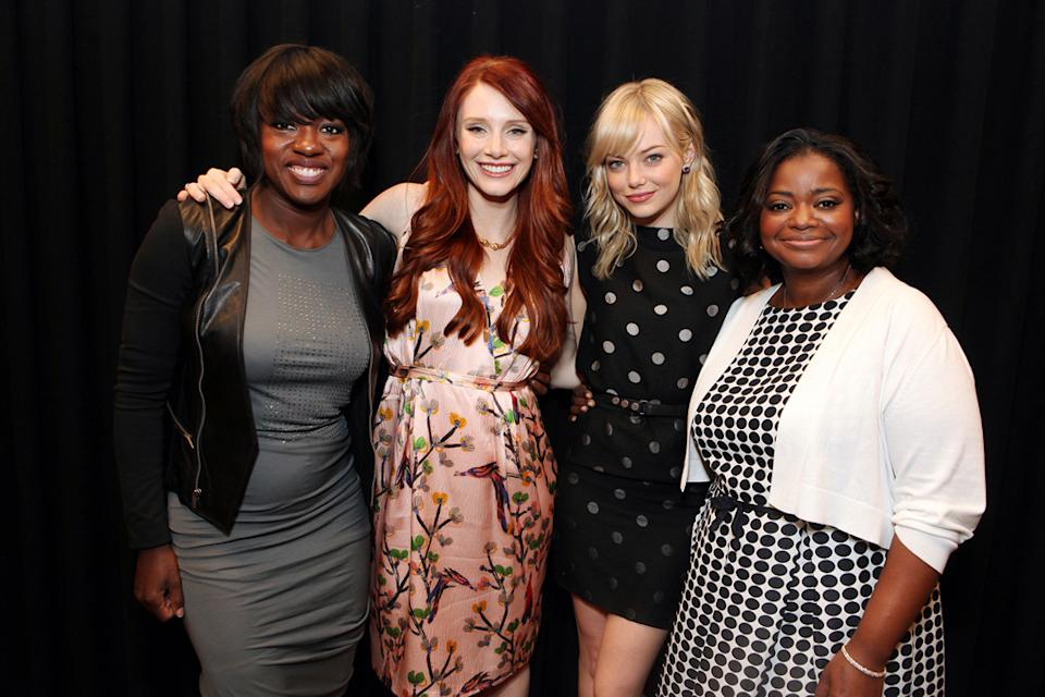 2011 CinemaCon Las Vegas Viola Davis Bryce Dallas Howard Emma Stone Octavia Spencer