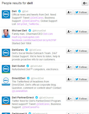 How Many Twitter Accounts Should A Brand Have? image dell