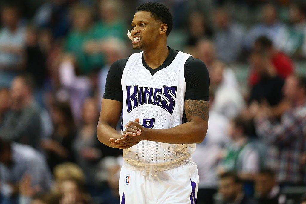 Rudy Gay of the Sacramento Kings looks on during a March 3, 2016 game. (Ronald Martinez/Getty Images)