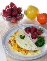 Chive and Cheese Omelette