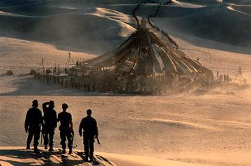 Travellers from our world encounter a desert outpost in MGM's Stargate