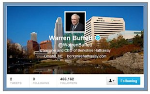 How The Fourth Richest Person On The Planet Goofed At Twitter image Warren Buffet Twitter 06 13
