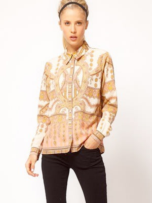 ASOS Shirt With Placement Paisley Print