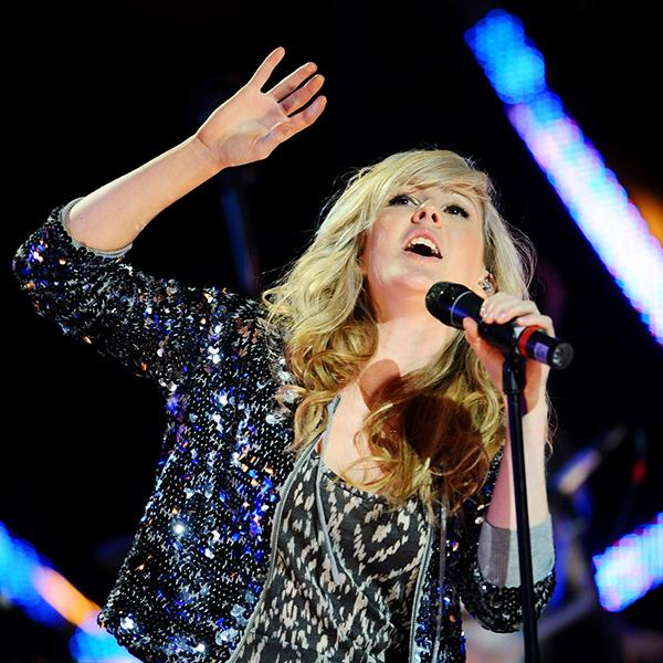 Performing at the Brit Awards in 2010