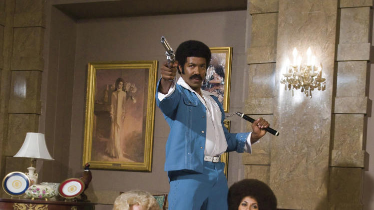 Nicole Sullivan Michael Jai White Salli Richardson-Whitfield Black Dynamite Production Stills 2009