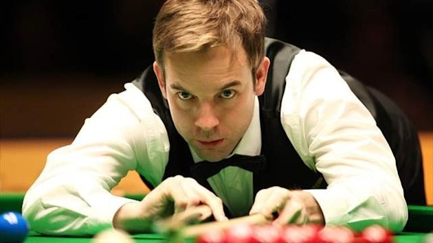 Ali Carter at the 2013 German Masters snooker tournament