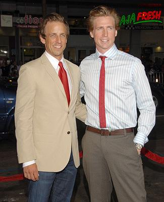 Seth Meyers and brother Josh Meyers at the Hollywood premiere of Paramount Pictures' Hot Rod