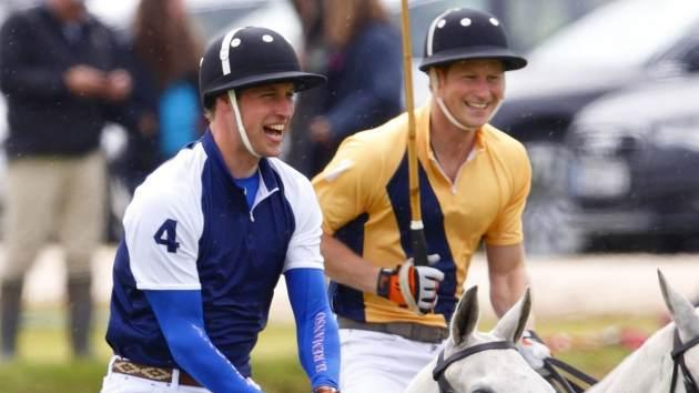 Prince William and Prince Harry play polo at the Beaufort Polo Club on June 16, 2013 in England -- Getty Images