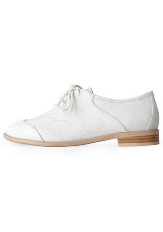 F-Troupe canvas saddle shoe, $158, at La Garconne