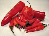 Fresh hot peppers are a great way to add capsaicin to your diet.