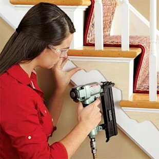 Securing brackets to stairs