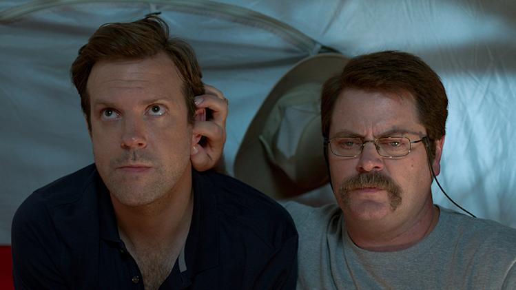 "Jason Sudeikis and Nick Offerman in Warner Bros.' ""We're The Millers"" - 2013"