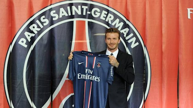 Sir Alex Ferguson was taken aback when David Beckham, pictured, chose PSG