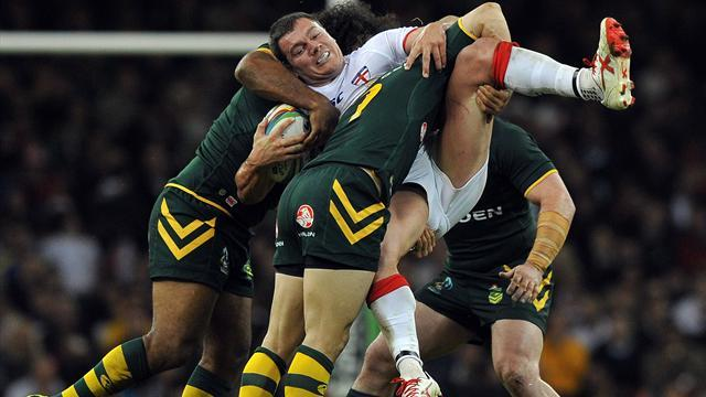 Rugby League - Aussies beat battling England in World Cup opener