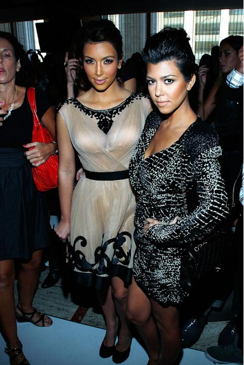 Kim and Kourtney Kardashian at Jill Stuart