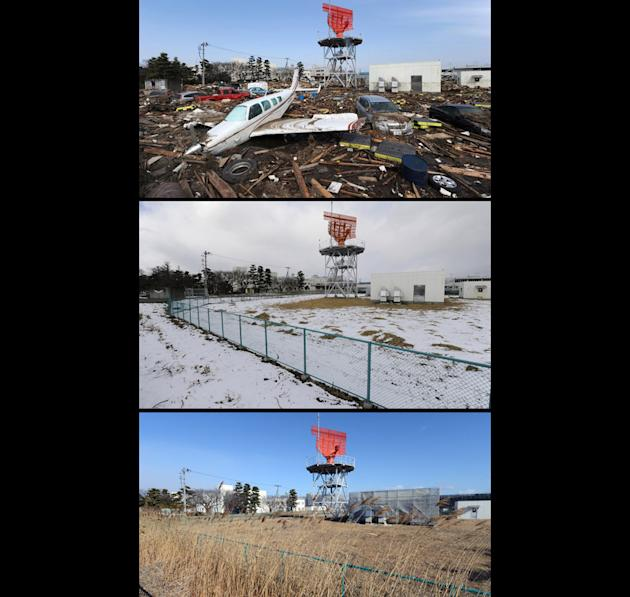 Japan tsunami two years on: Before and after pictures