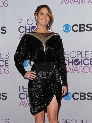 Jennifer Lawrence at Wednesday night's People's Choice Awards