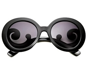80s Purple Baroque Round Sunglasses