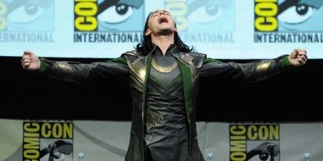 Tom Hiddleston as Loki at Comic Con 2013