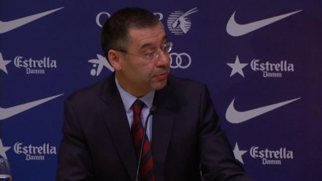 New Barcelona president Josep Maria Bartomeu insisted the fee paid for Neymar was 57.1 million euros