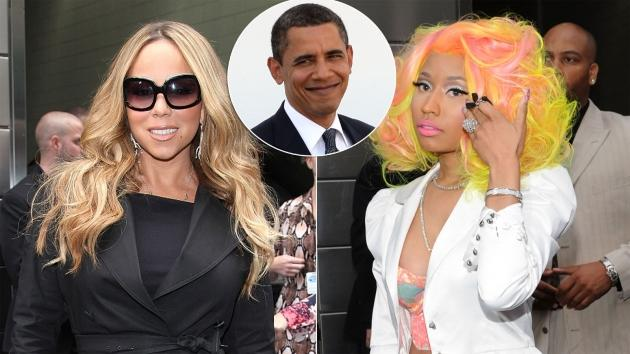 Mariah Carey / Nicki Minaj / President Obama -- Getty Images