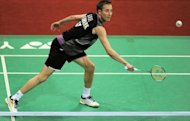 Denmark's Peter Gade during a match at the India Open in New Delhi on April 26. The 35-year-old Gade has had a moderate run-up to the Olympics and fell from the world's top four, putting him in the same quarter as Chen Long, the former world junior champion from China