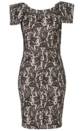 Topshop Bonded Lace Pencil Dress