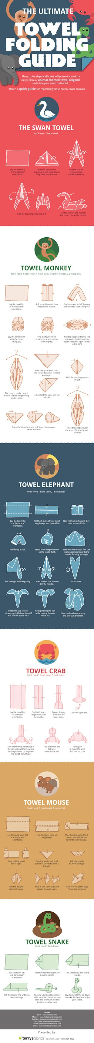 The Ultimate Towel Folding Guide [Infographic] image the ultimate towel folding guide
