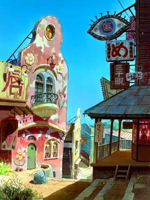 The mysterious village in Hayao Miyazaki 's Spirited Away