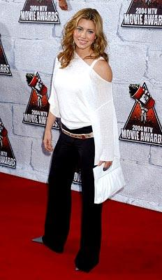 "Jessica Biel used to be on ""7th Heaven.""  Then she played a boozy hosebeast in The Rules of Attraction.  That's always fun. MTV Movie Awards - 6/5/2004"