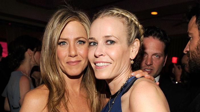 2013 Vanity Fair Oscar Party Hosted By Graydon Carter - Inside: Jennifer Aniston and Chelsea Handler