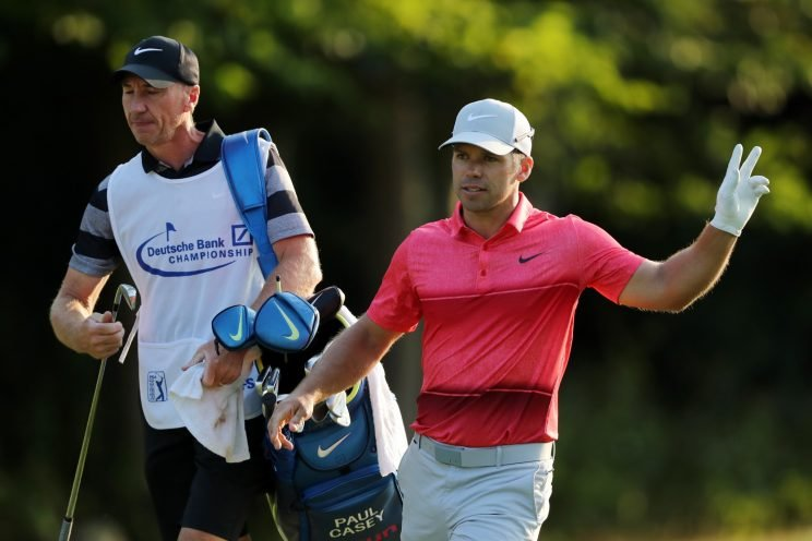 Paul Casey shot 66 on Sunday at the Deutsche Bank. (Getty Images)