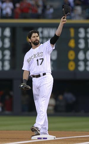 Helton homers in Coors finale, Bosox top Rockies