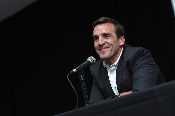 LAS VEGAS, NV - JULY 13: George McPhee speaks after being introduced as the general manager of the Las Vegas NHL franchise during a news conference at T-Mobile Arena on July 13, 2016 in Las Vegas, Nevada. (Photo by Ethan Miller/Getty Images)