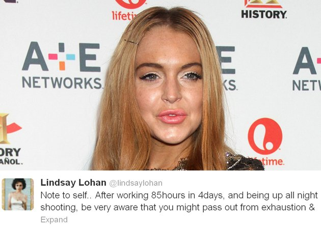 lindsay lohan collapse