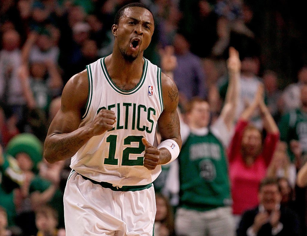 Von Wafer of the Boston Celtics reacts after scoring against the Miami Heat on Feb. 13, 2011. (Jim Rogash/ Getty Images)