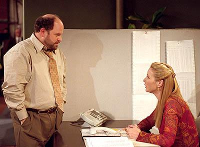 "Jason Alexander and Lisa Kudrow in ""The One With Where Rosita Dies"" in NBC's Friends"